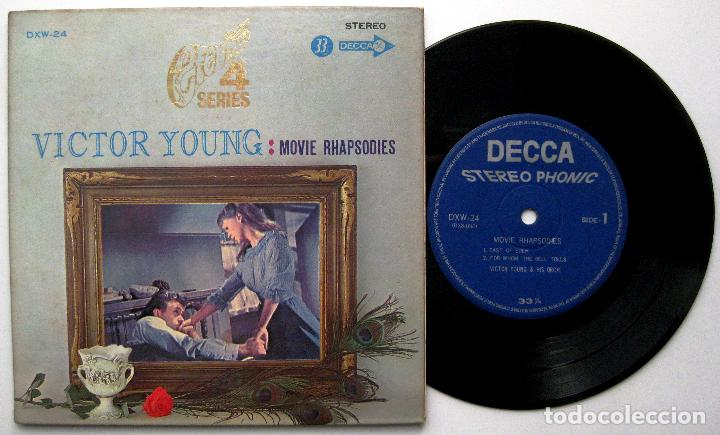 VICTOR YOUNG AND HIS ORCHESTRA - MOVIE RHAPSODIES - EP DECCA 1969 JAPAN BPY (Música - Discos de Vinilo - EPs - Bandas Sonoras y Actores)