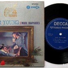 Discos de vinilo: VICTOR YOUNG AND HIS ORCHESTRA - MOVIE RHAPSODIES - EP DECCA 1969 JAPAN BPY. Lote 236424725