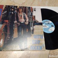 Discos de vinilo: WILD BOB BURGOS(MATCHBOX)-GOTTA' KEEP ROCKIN'-SPANISH EDITION FROM 1990-ROCKABILLY-.LP-. Lote 236424750