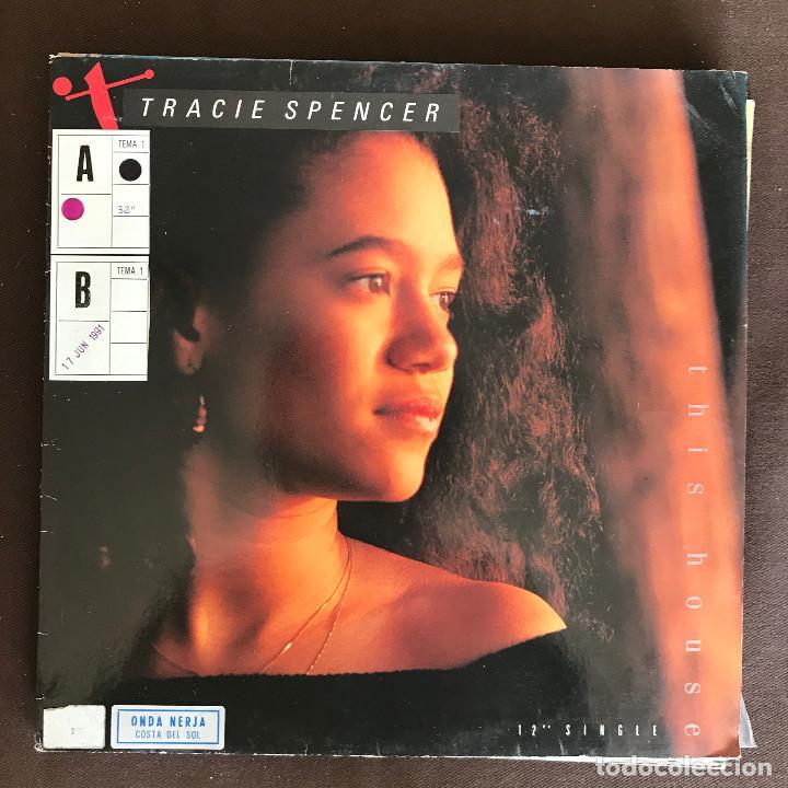 TRACIE SPENCER - THIS HOUSE - 12'' MAXISINGLE CAPITOL ALEMANIA 1990 (Música - Discos de Vinilo - Maxi Singles - Funk, Soul y Black Music)