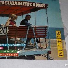 Discos de vinilo: SINGLE LOR TRES SUDAMERICANOS - EL ULTIMO TREN. Lote 236427230