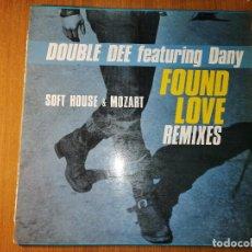 Discos de vinilo: LOTE 3 DISCOS TECHNO. DOUBLE DEE FEATURING DANY-FOUND LOVE REMIX Y FOUND LOVE-DJ. KATZMAN II. Lote 236437040