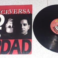 Discos de vinilo: VICEVERSA - NO ES VERDAD - MAXI - SPAIN - MAX MUSIC - LV -. Lote 236438745