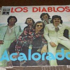 Discos de vinilo: SINGLE LOS DIABLOS -- ACALORADO. Lote 236438920