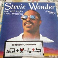 "Discos de vinilo: STEVIE WONDER - DON'T DRIVE DRUNK (SI BEBES...NO CONDUZCAS)(12"", MAXI) SPCO-6.VINILO NUEVO.MINT/VG. Lote 236444160"