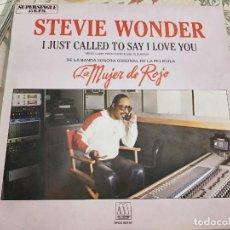 "Discos de vinilo: STEVIE WONDER - I JUST CALLED TO SAY I LOVE YOU = SOLO LLAME PARA DECIRTE QUE TE QUIERO (12"", MAXI). Lote 236446105"