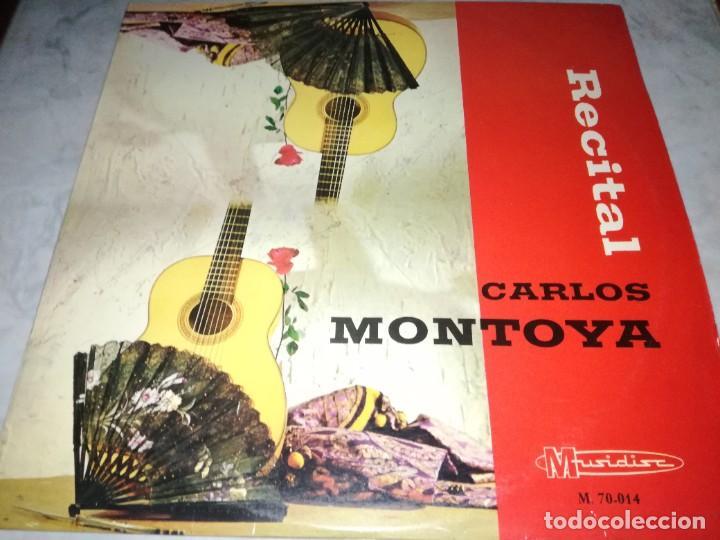 CARLOS MONTOYA-RECITAL-ORIGINAL 1966 (Música - Discos - LP Vinilo - Flamenco, Canción española y Cuplé)