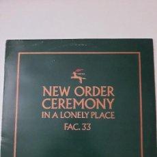 Discos de vinilo: NEW ORDER – CEREMONY. Lote 236462335