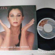 Discos de vinilo: LOLITA - TE VOY HACER LA VIDA IMPOSIBLE + A VECES SINGLE EDITADO POR HORUS EN 1991. Lote 236471185