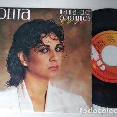 Discos de vinilo: LOLITA - NANA DE COLORINES / BESO POR BESO. 1985.. Lote 236471265