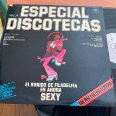 Discos de vinilo: PHILADELPHIA SOUND SONIDO FILADELFIA SEXY ESPECIAL DISCOTECAS VOL 4 LP PROMO 1975 (B-19). Lote 236472535