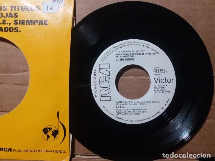 OLIVER ONIONS / SANDOKAN / SINGLE 7 INCH (Música - Discos - Singles Vinilo - Bandas Sonoras y Actores)