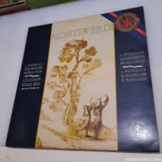 Discos de vinilo: C. MONTEVERDI, COLLEGIUM VOCALE KÖLN - 18 MADRIGALS FROM THE SECOND MADRIGAL BOOK. Lote 236487100