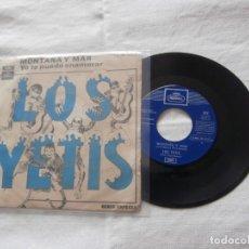 Discos de vinilo: LOS YETIS 7´SG MONTAÑA Y MAR + 1 (1969) BUENA CONDICION ** GRUPO PROMO TONY RONALD**. Lote 236509110
