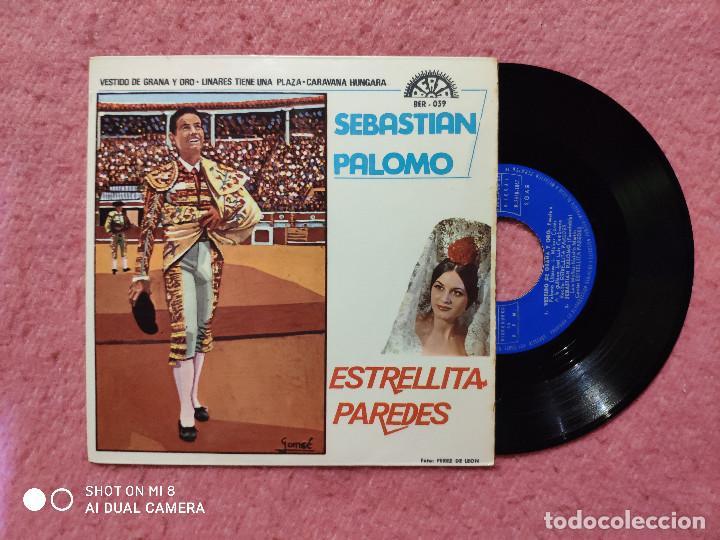 EP ESTRELLITA PAREDES / SEBASTIAN PALOMO - VESTIDO DE GRANA Y ORO +3 - 039 - (NM/NM) (Música - Discos de Vinilo - EPs - Flamenco, Canción española y Cuplé)
