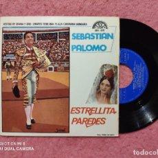 Discos de vinilo: EP ESTRELLITA PAREDES / SEBASTIAN PALOMO - VESTIDO DE GRANA Y ORO +3 - 039 - (NM/NM). Lote 236515725