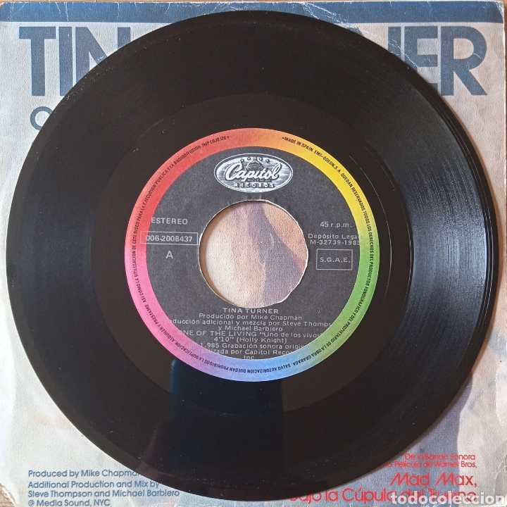 Discos de vinilo: Single Mad Max, Bajo la Cúpula del Trueno (BSO) - Foto 3 - 236517650