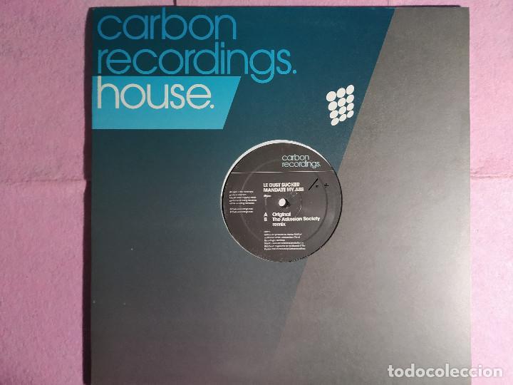 "12"" LE DUST SUCKER – MANDATE MY ASS - CARBON RECORDINGS CB015 - MAXI (EX+/EX+) (Música - Discos de Vinilo - Maxi Singles - Techno, Trance y House)"