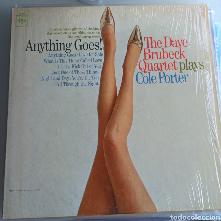THE DAVE BRUBECK QUARTET - ANYTHING GOES! DAVE BRUBECK PLAYS COLE PORTER (COLUMBIA, MONO, US, 1965) (Música - Discos - LP Vinilo - Jazz, Jazz-Rock, Blues y R&B)