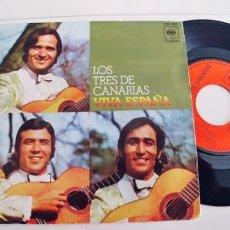 Discos de vinilo: LOS TRES DE CANARIAS-SINGLE VIVA ESPAÑA. Lote 236524915