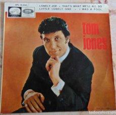 Discos de vinilo: TOM JONES – LONELY JOE + 3 - EP 1966. Lote 236527730