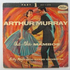Discos de vinilo: EP ARTHUR MURRAY BILLY MAY'S RICO MAMBO ORCHESTRA (1955) (RARO. VERSION NO EXISTENTE EN DISCOGS.COM). Lote 236530230