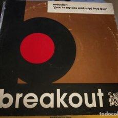 Discos de vinilo: SEDUCTION – (YOU'RE MY ONE AND ONLY) TRUE LOVE 1989. BASTANTE USADO. VG / VG. Lote 236535885