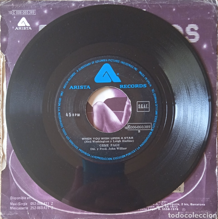 Discos de vinilo: Single Gene Page - Foto 4 - 236537425