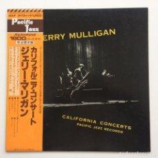 Discos de vinilo: GERRY MULLIGAN – CALIFORNIA CONCERTS JAPAN,1978 PACIFIC JAZZ. Lote 236557615