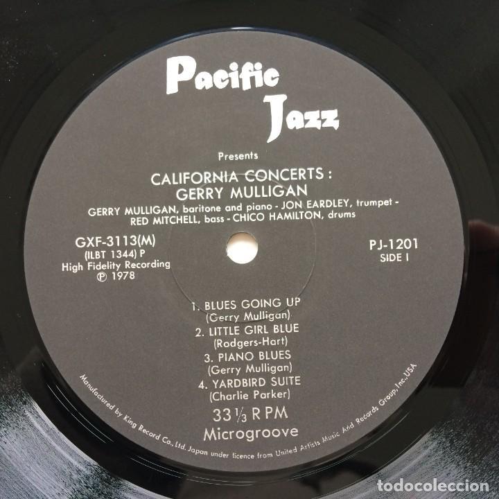 Discos de vinilo: Gerry Mulligan – California Concerts Japan,1978 Pacific Jazz - Foto 4 - 236557615