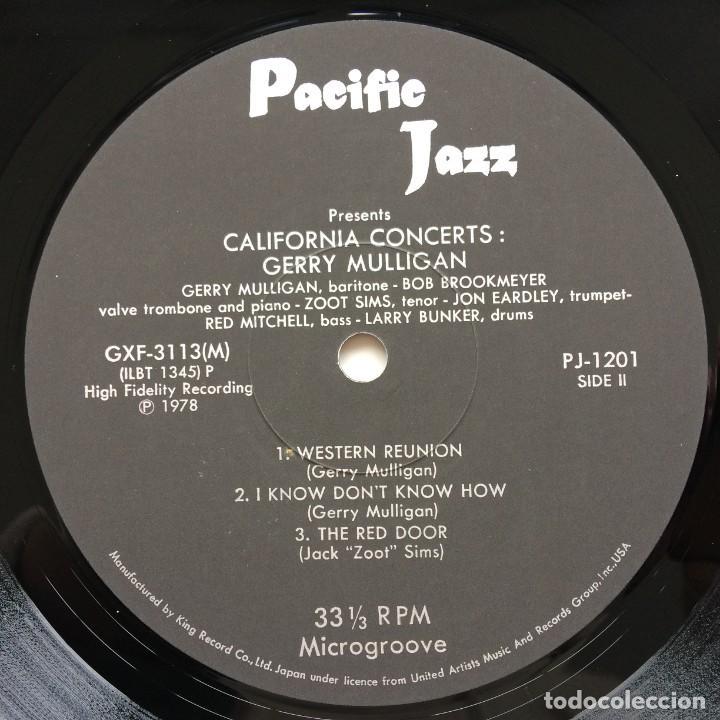 Discos de vinilo: Gerry Mulligan – California Concerts Japan,1978 Pacific Jazz - Foto 5 - 236557615