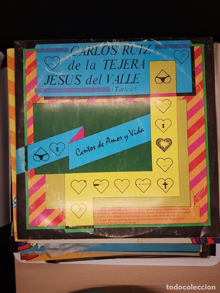 CARLOS RUIZ DE LA TEJERA - CANTOS DE AMOR Y VIDA - 1.989 - HUMOR CUBA (Música - Discos - LP Vinilo - Otros estilos)