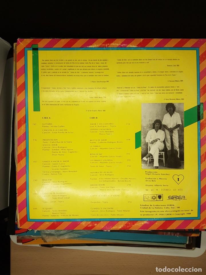 Discos de vinilo: CARLOS RUIZ DE LA TEJERA - Cantos de amor y Vida - 1.989 - HUMOR CUBA - Foto 2 - 236559115