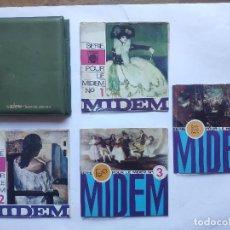 Discos de vinilo: MIDEM 1967 – PACK 4 EP'S PROMOS – BRINCOS – MICKY Y LOS TONYS – SPANISH EDITION - ULTRARARE - REF.3. Lote 236565350