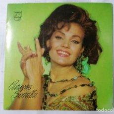 Discos de vinilo: CARMEN SEVILLA DISCO PROMOCIONAL PHILIPS, EL ANGEL DE LA GUARDA Y TRES CANCIONES MAS, AÑO 1965. Lote 236585935