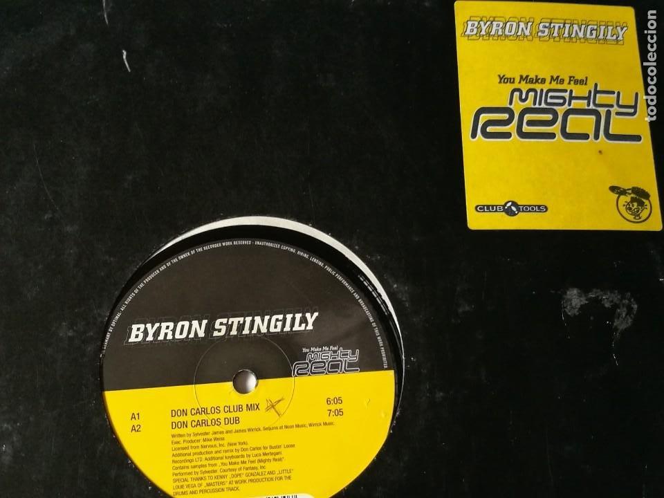 BYRON STINGILY - YOU MAKE ME FEEL (MIGHTY REAL) - 1998 (Música - Discos de Vinilo - Maxi Singles - Techno, Trance y House)