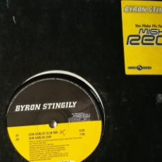 Discos de vinilo: BYRON STINGILY - YOU MAKE ME FEEL (MIGHTY REAL) - 1998. Lote 236595635