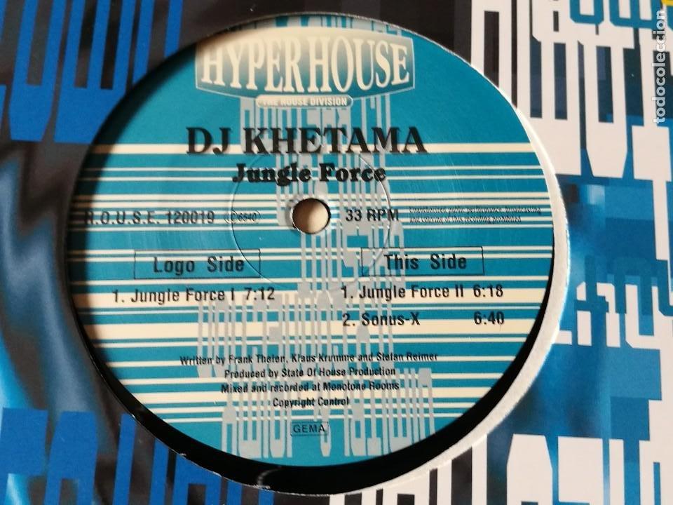 DJ KHETAMA - JUNGLE FORCE - 1995 (Música - Discos de Vinilo - Maxi Singles - Techno, Trance y House)