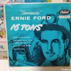 Discos de vinilo: TENNESSEE ERNIE FORD–16 TONS. EP EDICIÓN USA 1956. Lote 236612595