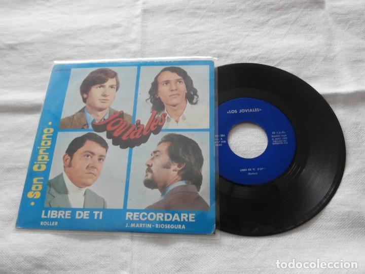 LOS JOVIALES 7´SG LIBRE DE TI + 1 (1972) **SAN CIPRIANO ** PRODUCTORA BARNAFON ROLLER RECORDATE (Música - Discos - Singles Vinilo - Grupos Españoles de los 70 y 80)