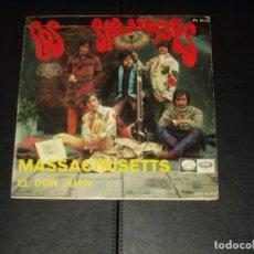 Discos de vinilo: SALVAJES SINGLE MASSACHUSETTS. Lote 236614580
