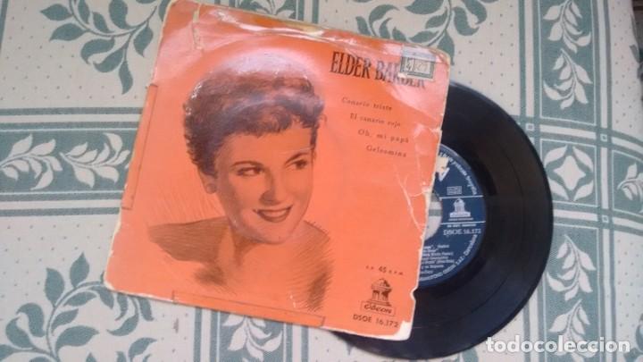 E.P. (VINILO) DE ELDER BARBER AÑOS 50 (Música - Discos de Vinilo - EPs - Pop - Rock Internacional de los 50 y 60)