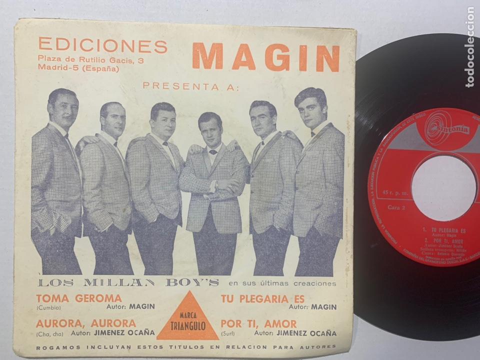 SINGLE EP LOS MILLÁN BOY'S CON SU GRAN TROMPETISTA MILLAN EDICIÓN ESPAÑOLA DE 1967 (Música - Discos de Vinilo - EPs - Grupos Españoles 50 y 60)