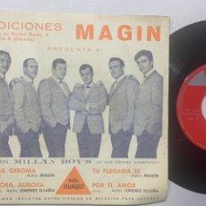 Discos de vinilo: SINGLE EP LOS MILLÁN BOY'S CON SU GRAN TROMPETISTA MILLAN EDICIÓN ESPAÑOLA DE 1967. Lote 236632215