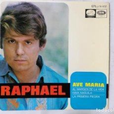 Discos de vinilo: RAPHAEL, AVE MARIA Y TRES CANCIONES MAS, AÑO 1968, LA VOZ DE SU AMO. Lote 236635540
