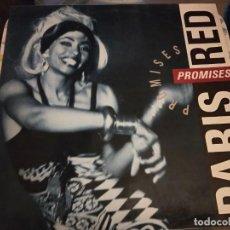 Discos de vinilo: PARIS RED – PROMISES 1993. SELLO: CBS/SONY – DAN 472003 1.BUEN ESTADO. VG++ / NEAR MINT. Lote 236635890