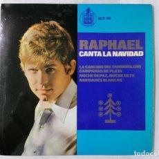 Discos de vinilo: RAPHAEL CANTA LA NAVIDAD, AÑO 1965, HISPAVOX. Lote 236635980