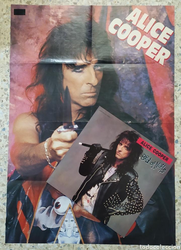 Discos de vinilo: Alice Cooper - Bed Of Nails 1989 Ed Holandesa con Póster - Foto 3 - 236640830