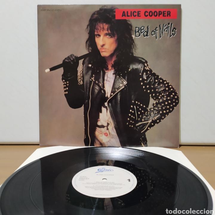 ALICE COOPER - BED OF NAILS 1989 ED HOLANDESA CON PÓSTER (Música - Discos de Vinilo - Maxi Singles - Heavy - Metal)
