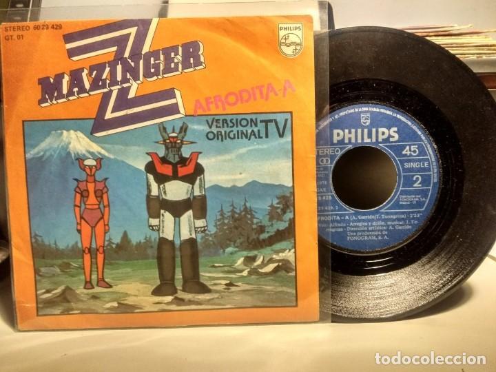 Discos de vinilo: SG MAZINGER Z : AFRODITA A - Foto 2 - 236642890